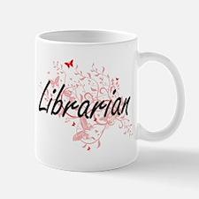 Librarian Artistic Job Design with Butterflie Mugs