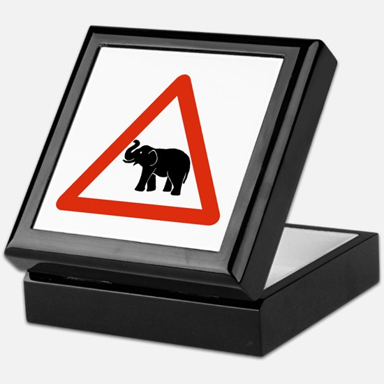 Beware of Elephants, Cambodia Keepsake Box