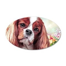 Cavalier King Charles Spaniel Painting Wall Decal