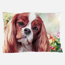 Cavalier King Charles Spaniel Painting Pillow Case