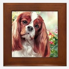 Cavalier King Charles Spaniel Painting Framed Tile