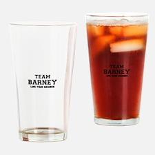 Team BARNEY, life time member Drinking Glass