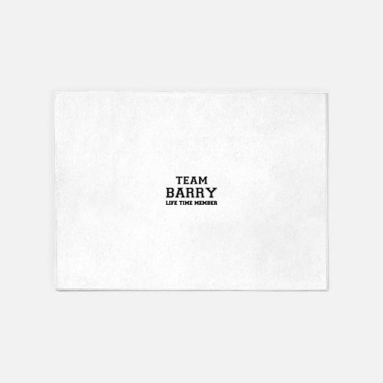 Team BARRY, life time member 5'x7'Area Rug