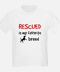 Kids Rescued Is My Favorite Breed T-Shirt