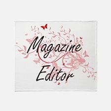 Magazine Editor Artistic Job Design Throw Blanket