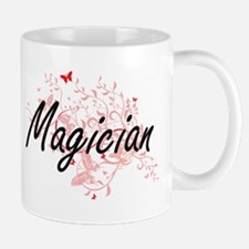 Magician Artistic Job Design with Butterflies Mugs