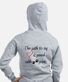 Path to my heart Zip Hoodie