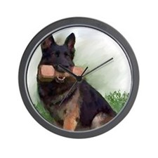 German Shepherd Mic Wall Clock