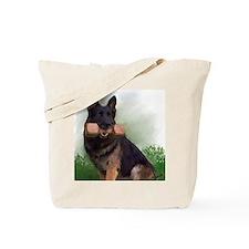 German Shepherd Mic Tote Bag