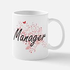 Manager Artistic Job Design with Butterflies Mugs
