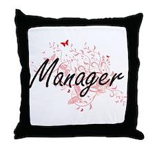 Manager Artistic Job Design with Butt Throw Pillow