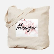 Manager Artistic Job Design with Butterfl Tote Bag