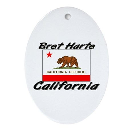Bret Harte California Oval Ornament