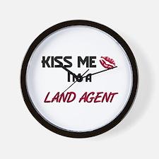 Kiss Me I'm a LAND AGENT Wall Clock