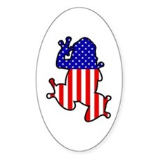 American Frog Oval Decal