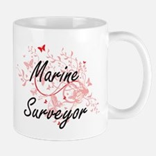 Marine Surveyor Artistic Job Design with But Mugs