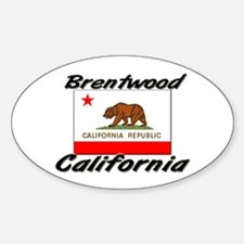 Brentwood California Oval Decal
