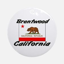 Brentwood California Ornament (Round)