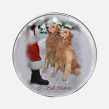 Golden Retriever Christmas Ornament (Round)