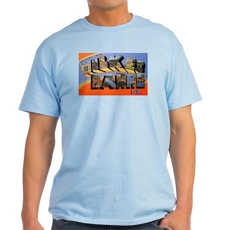 Wilkes-Barre Pennsylvania Greetings Light T-Shirt