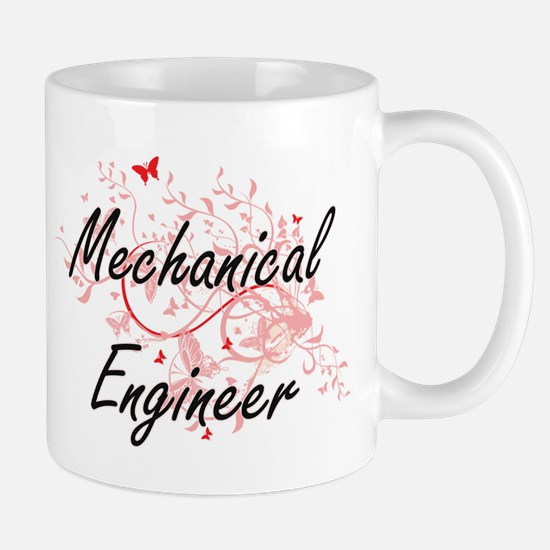 Mechanical Engineer Artistic Job Design with Mugs
