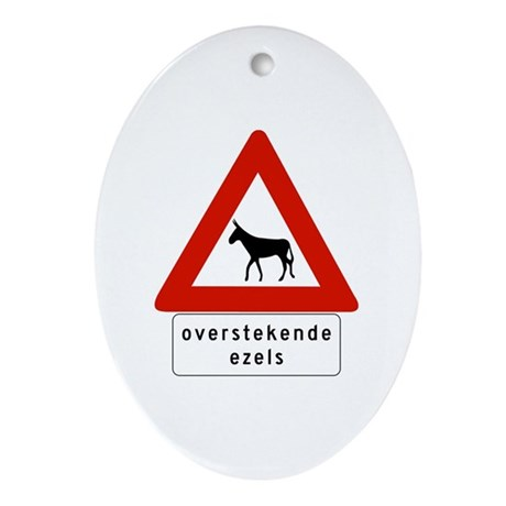 Donkey Crossing w/text, Netherlands Antilles Orna
