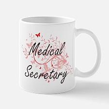 Medical Secretary Artistic Job Design with Bu Mugs