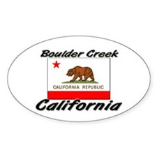 Boulder Creek California Oval Decal