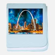 Spacey St. Louis Skyline baby blanket