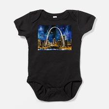 Spacey St. Louis Skyline Baby Bodysuit