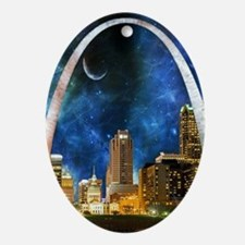 Spacey St. Louis Skyline Oval Ornament