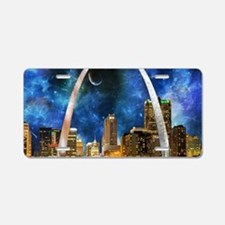Spacey St. Louis Skyline Aluminum License Plate