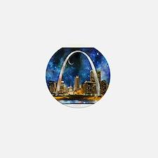 Spacey St. Louis Skyline Mini Button