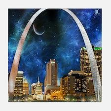 Spacey St. Louis Skyline Tile Coaster