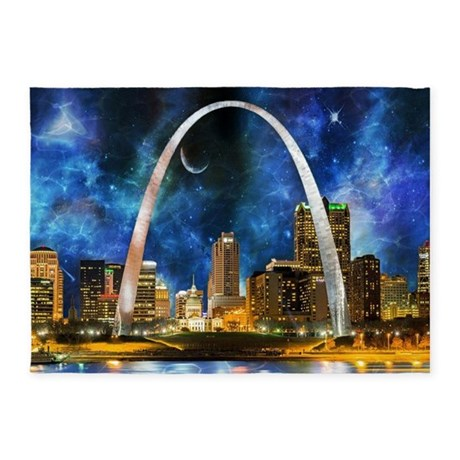 Spacey St. Louis Skyline 5u0027x7u0027Area Rug