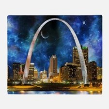 Spacey St. Louis Skyline Throw Blanket