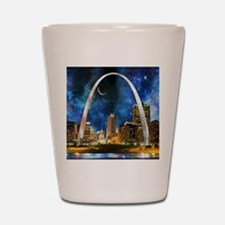 Spacey St. Louis Skyline Shot Glass