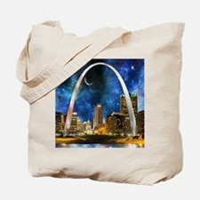 Spacey St. Louis Skyline Tote Bag