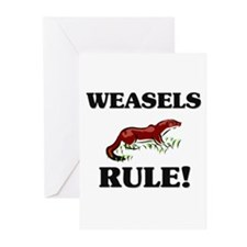 Weasels Rule! Greeting Cards