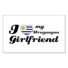 I love my Uruguayan Girlfriend Sticker (Rectangula