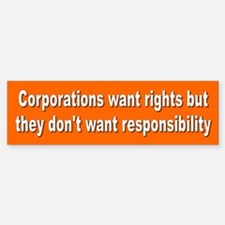CORPORATIONS Bumper Bumper Bumper Sticker
