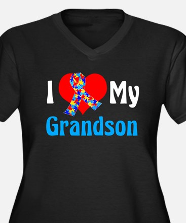 Autism Grand Women's Plus Size V-Neck Dark T-Shirt