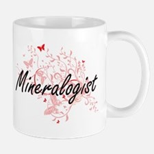 Mineralogist Artistic Job Design with Butterf Mugs