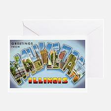 Waukegan Illinois Greetings Greeting Card