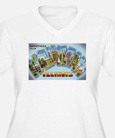 Waukegan Illinois Greetings (Front) T-Shirt