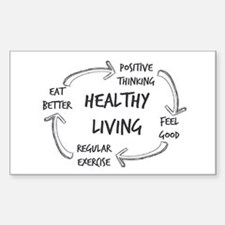 Healthy Living Decal