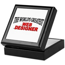 """The World's Greatest Web Designer"" Keepsake Box"