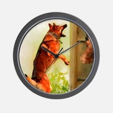 German Shepherd Protect 2 Wall Clock