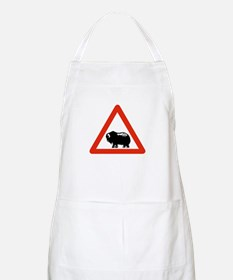 Caution Musk Oxen, Greenland BBQ Apron