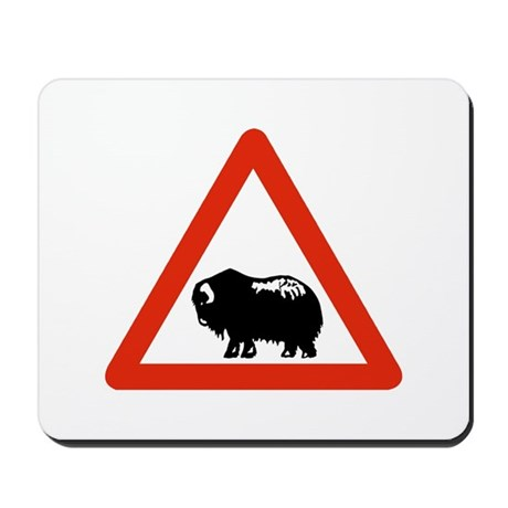 Caution Musk Oxen, Greenland Mousepad